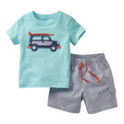 Carter's® Car Short Set - Boys newborn-24m