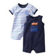 Carter's® 2-pk. Little Dude Rompers - Boys newborn-24m