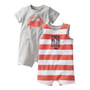 Carter's® 2-pk. Crab Rompers - Boys newborn-24m