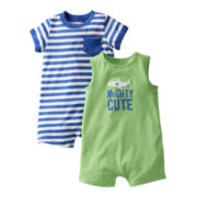 Carter's® 2-pk. Shark Rompers - Boys newborn-24m