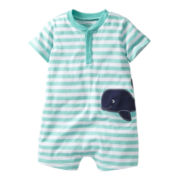 Carter's® Striped Whale Romper - Boys nb-24m