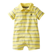 Carter's® Yellow Striped Romper - Boys nb-24m