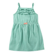 Carter's® Teal Floral Print Dress - Girls newborn-24m