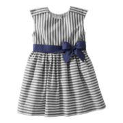 Carter's® Navy Striped Dress - Girls 2t-4t