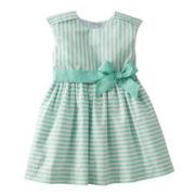 Carter's® Mint Striped Dress - Girls 2t-4t