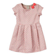 Carter's® Short-Sleeve Neon Dot Dress - Girls 2t-4t