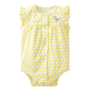 Carter's® Yellow Dot Bird Creeper - Girls newborn-24m