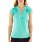 Worthington® Short-Sleeve V-Neck Top