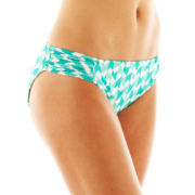 jcp™ Print Shirred Side-Tab Hipster Swim Bottoms