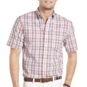 IZOD Short-Sleeve Large Plaid Shirt