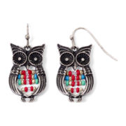 Arizona Seed Bead Owl Earrings