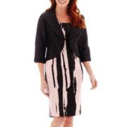 Dana Kay Striped Jacket Dress