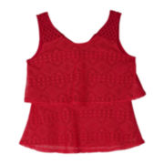 by&by Girl Tiered Crochet Top - Girls 7-16