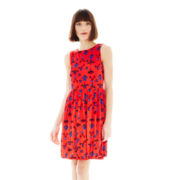 Joe Fresh™ Sleeveless Print Gathered Dress