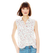 Joe Fresh™ Sleeveless Flap-Pocket Top
