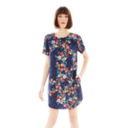 Joe Fresh™ Short-Sleeve Floral Print Shift Dress