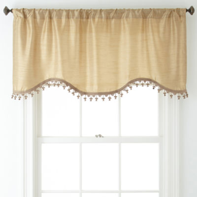 Royal Velvet® Britton Rod-Pocket Scalloped Valance