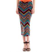 Bisou Bisou® Chevron Print Foldover Knit Skirt
