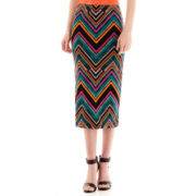 Bisou Bisou® Chevron Print Pencil Skirt