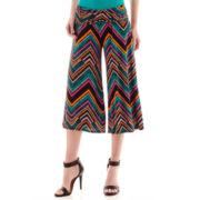 Bisou Bisou® Chevron Print Culotte Pants