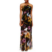 Jennie & Marlis Floral-Print Y-Neck Maxi Dress