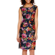 Worthington® Sleeveless Floral Lace Sheath Dress