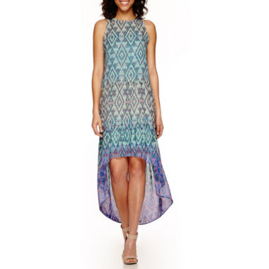 jcpenney.com | a.n.a® Sleeveless Print Tiered Maxi Dress