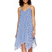 a.n.a® Sleeveless Handkerchief-Hem Print Dress