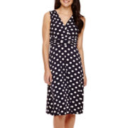 Ronni Nicole® Sleeveless Polka Dot Printed A-Line Dress