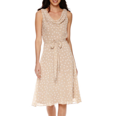 jcpenney.com | R&K Originals® Sleeveless Polka Dot A-Line Dress