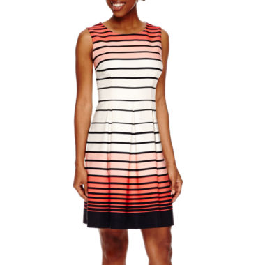 jcpenney.com | Studio 1® Sleeveless Graduated Stripe Fit-and-Flare Dress