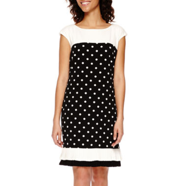 jcpenney.com | Studio 1® Colorblock Dot Shift Dress with Ruffle Hem