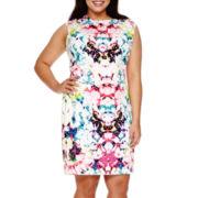 Bisou Bisou® Sleeveless Laser-Cut Sheath Dress - Plus