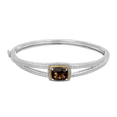 jcpenney.com | Smokey Quartz and Genuine White Topaz Sterling Silver Bangle