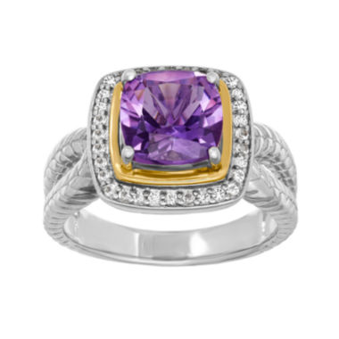 jcpenney.com | Genuine Amethyst and White Topaz Ring