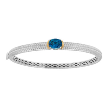 jcpenney.com | Genuine London Blue Topaz Sterling Silver Bangle Bracelet