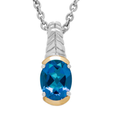 jcpenney.com | Genuine London Blue Topaz Sterling Silver Pendant Necklace