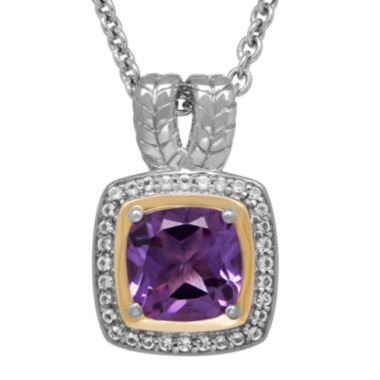 jcpenney.com | Genuine Amethyst and White Topaz Pendant Necklace