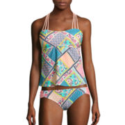 Arizona Whimsical Bandeaukini Swim Top or Hipster Swim Bottoms - Juniors
