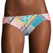 Arizona Whimsical Patchwork Hipster Swim Bottoms - Juniors