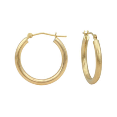 jcpenney.com | 14K Gold Round Polished 21mm Hoop Earrings