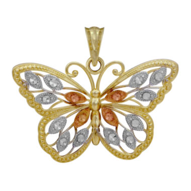 jcpenney.com | 10K Tri-Tone Gold Butterfly Pendant