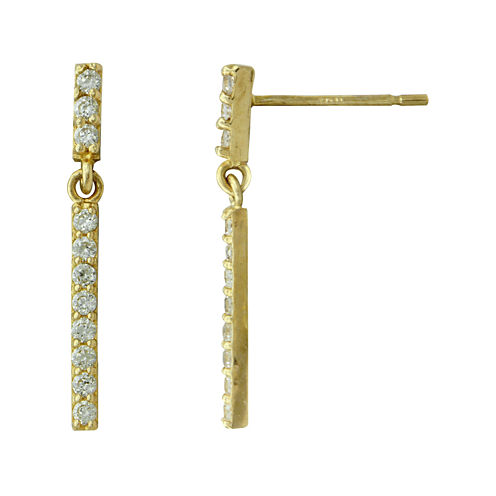 Petite Lux™ Cubic Zirconia Dangle Bar Drop Earrings