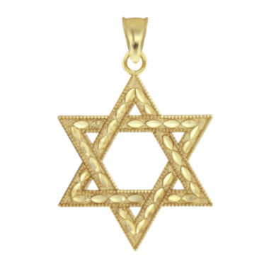 jcpenney.com | 10K Yellow Gold Star of David Charm Pendant