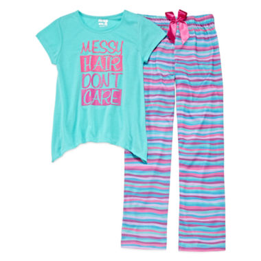 jcpenney.com | Sleep On It Messy Hair Don't Care 2-pc. Sleep Pants Set - Girls 7-16