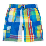 Arizona Plaid Cotton Cargo Shorts - Toddler Boys 2t-5t