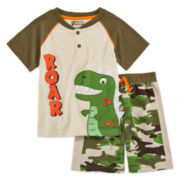 2-pc. Short-Sleeve Henley Tee and Shorts Set - Toddler Boys 2t-4t