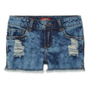 Arizona Denim Frayed-Edge Shorts - Girls 7-16