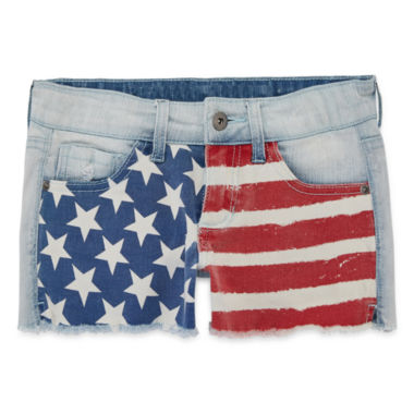 jcpenney.com | Arizona American Flag Denim Shorties - Girls 7-16 and Plus