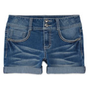 Vanilla Star® Denim Shorts with Embellished Pockets - Girls 7-16 and Plus